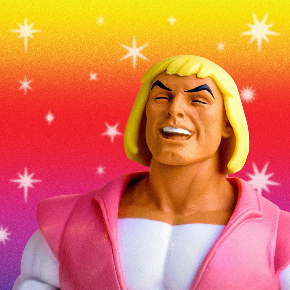 Laughing Prince Adam San Diego comic-con 2018 Super 7 Exclusive Masters of the Universe Club Grayskull FILMATION