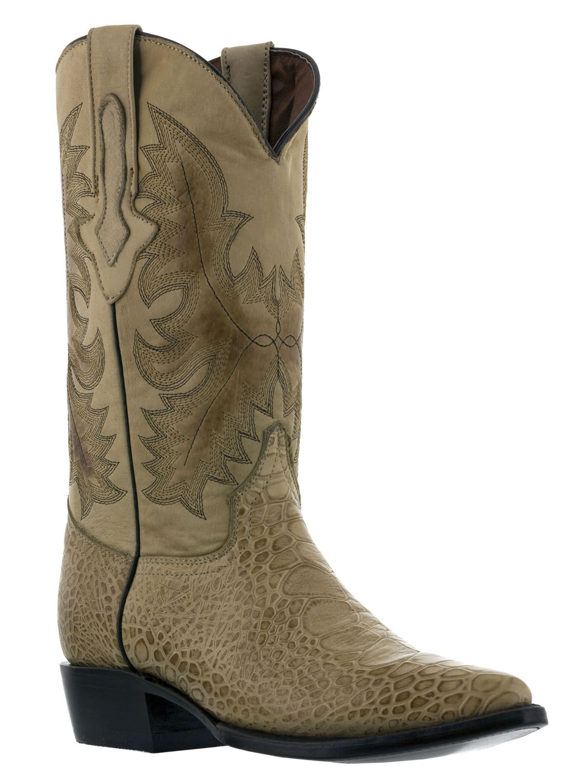 Men's Crocodile Ostrich Cowboy Boots Exotic Real Leather Print Red J Toe