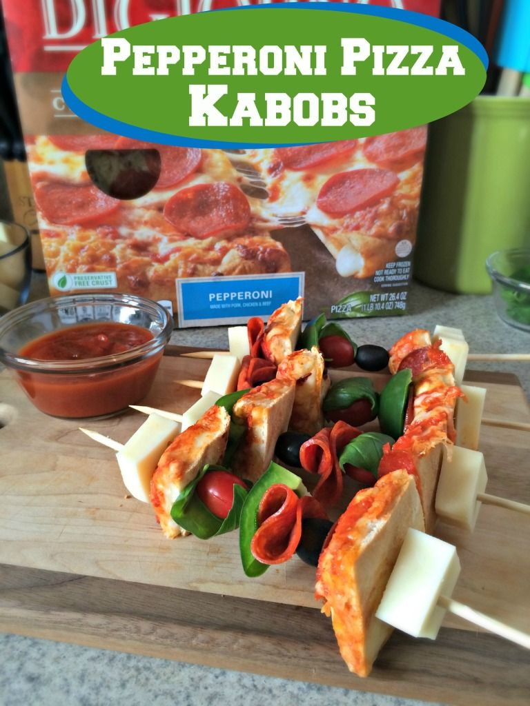 Spice up your Game Day parties, or just make them for fun, with Pepperoni Pizza Kabobs! ad