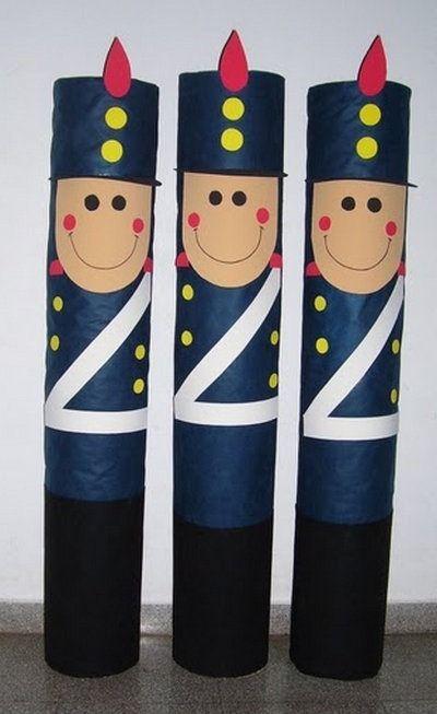 db364155a00 manualidad dia de la independencia en goma eva y tubos de carton ...