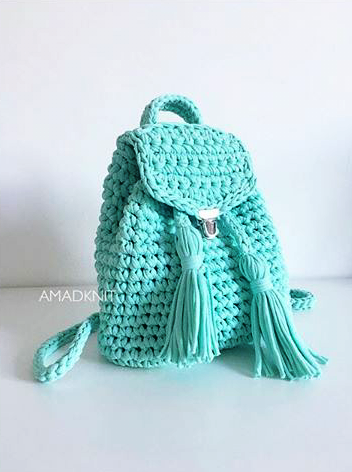 Handmade Knitting Bag Pattern : Pin by Cristina Provensal on Bolsos de trapillo, fettuccia ...