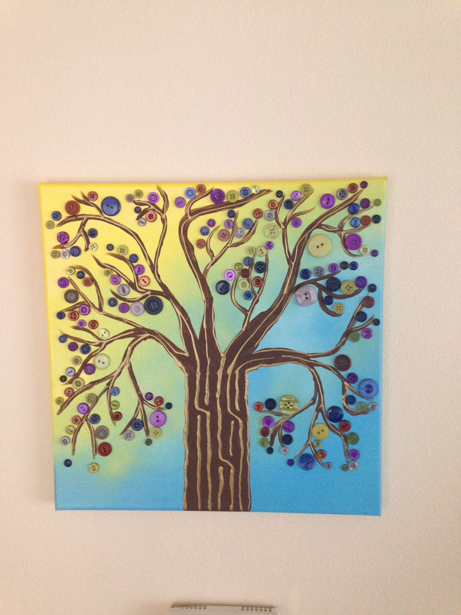 Completed Button Tree Pinterest Craft Project This Is A Square