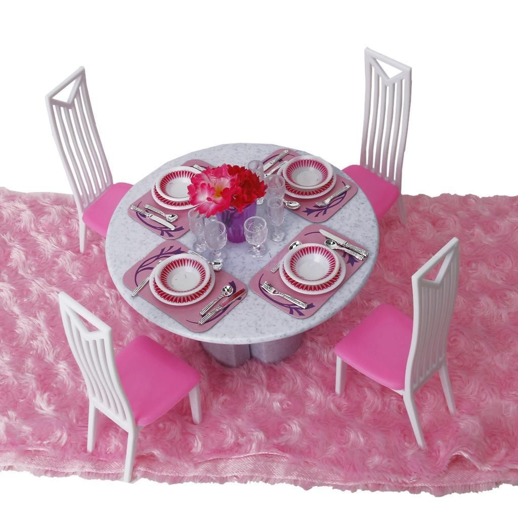 doll house dining room furniture table chair dinnerware play set doll house dining room furniture table chair dinnerware play set for barbie ken