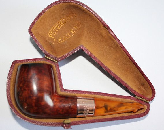 A pristine little Cased Gold Amber stem 1901 Patent.