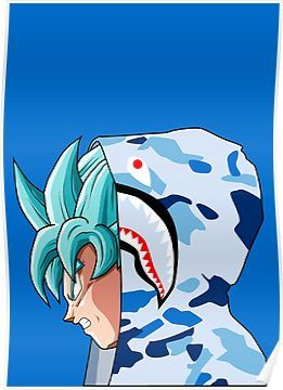 Goku Ssb Bape Poster Bape Art Dragon Ball Wallpaper Iphone Bape Wallpapers