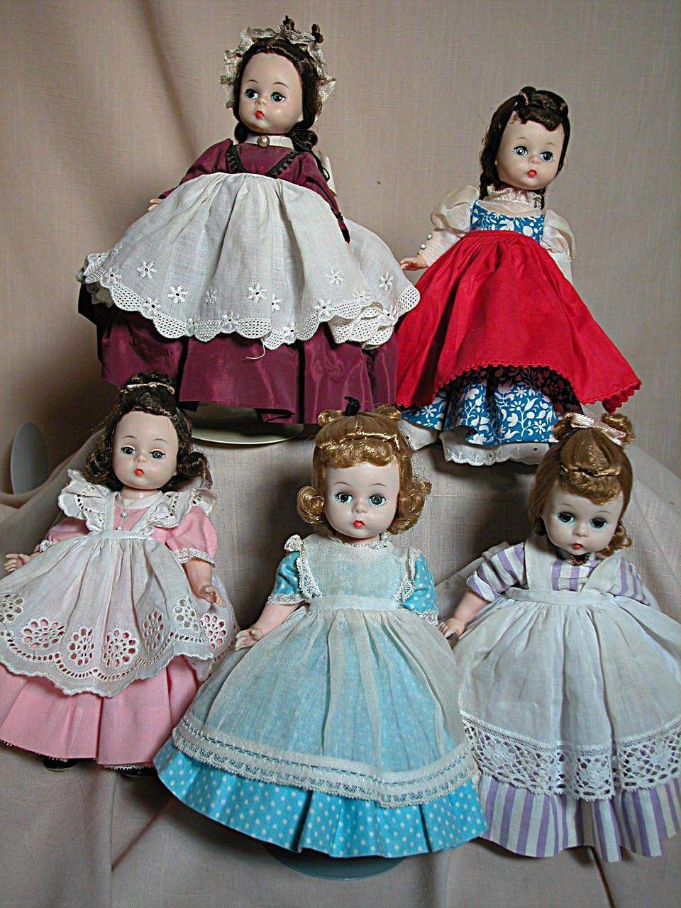 Madame Alexander Kin Doll Set 5 Little Women BK Walker Side Snap ...