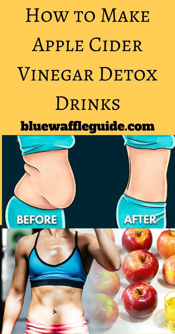 How to Make Apple Cider Vinegar Detox Drinks - bluewaffleguide.com #applecidervinegarbenefits