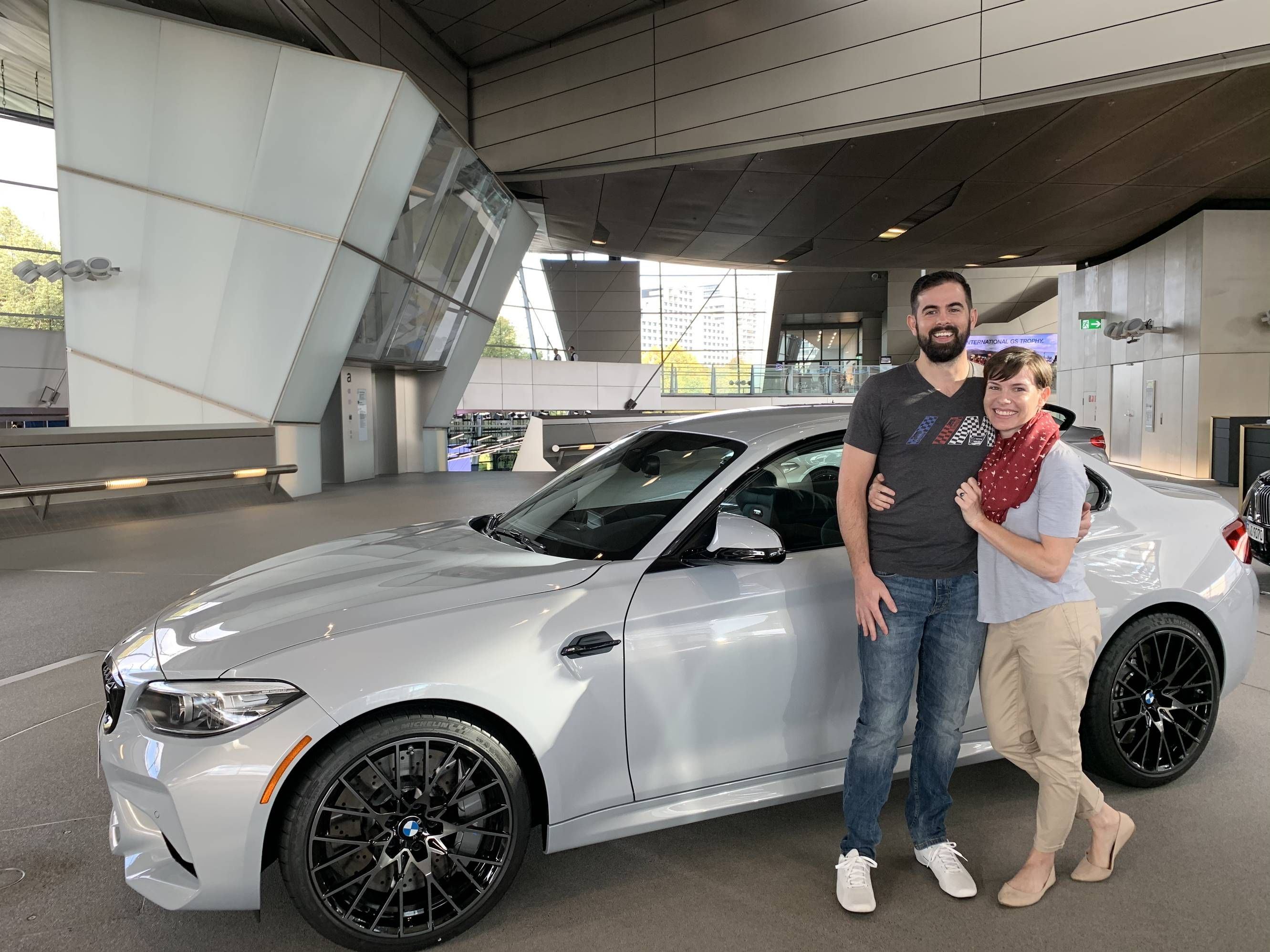 Dream Achieved Euro Delivery Of A New M2 Comp Friends Wife Surprised Him With The Exact Same Car Bmw Price Bmw Car