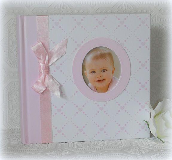C.R. Gibson Pink Hearts Baby Girl Photo Album @ LisasCreativeDesigns.com #BabyGirlGift #BabyGirl