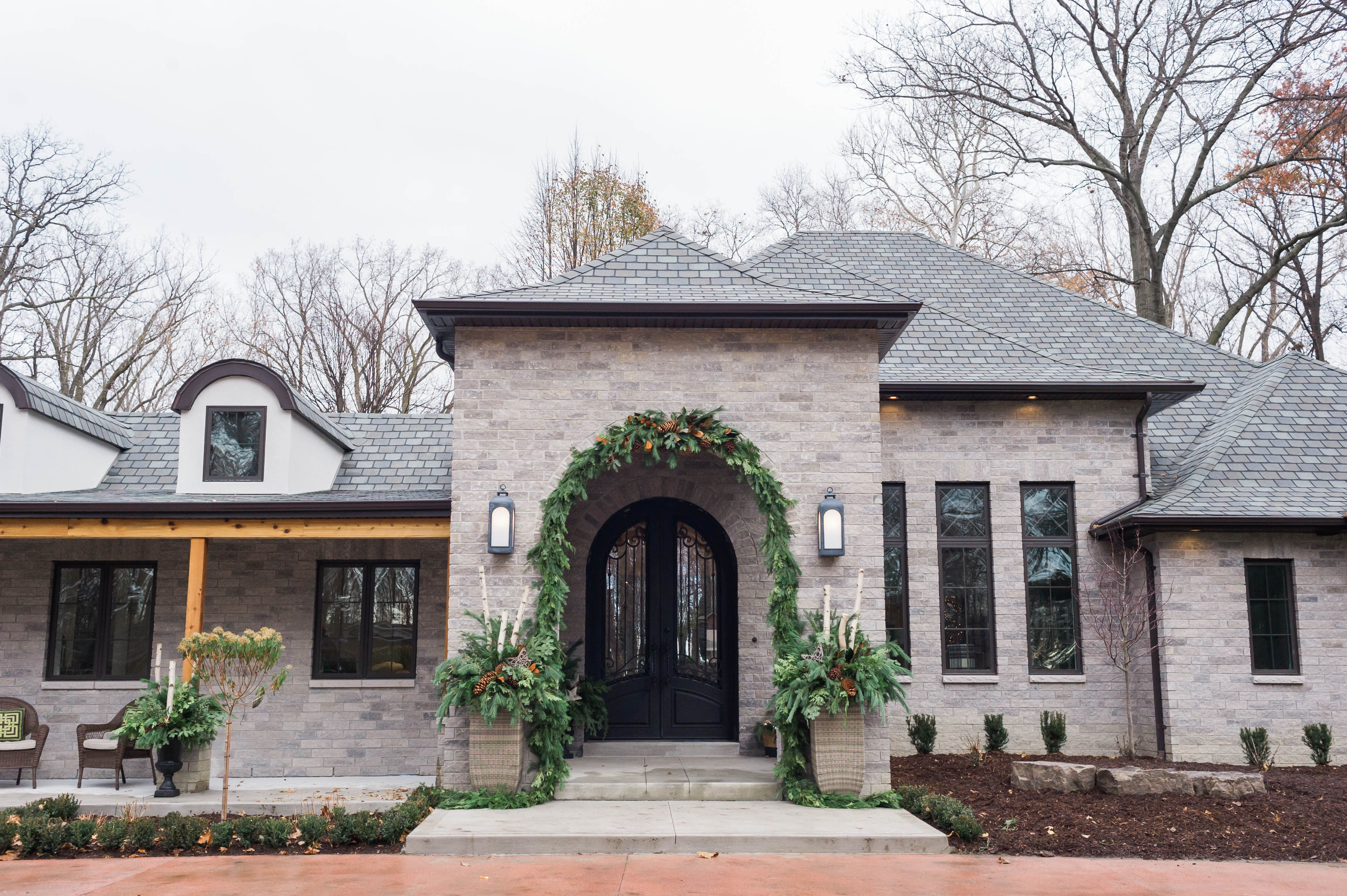 Modern French Country Exterior Renovation Part 2 The Leslie Style French Country Exterior Brick Exterior House Shutters Exterior