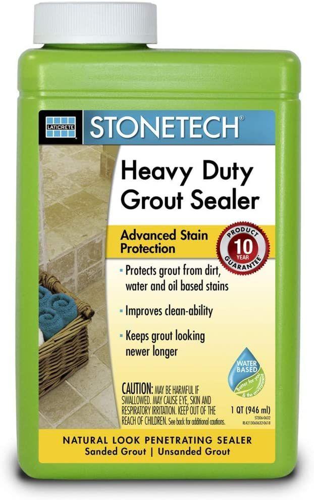 Stonetech Heavy Duty Grout Sealer 1 Quart 946l Tile Grout Cleaners Amazon Com In 2020 Grout Sealer Tile Grout Cleaner Grout Cleaner