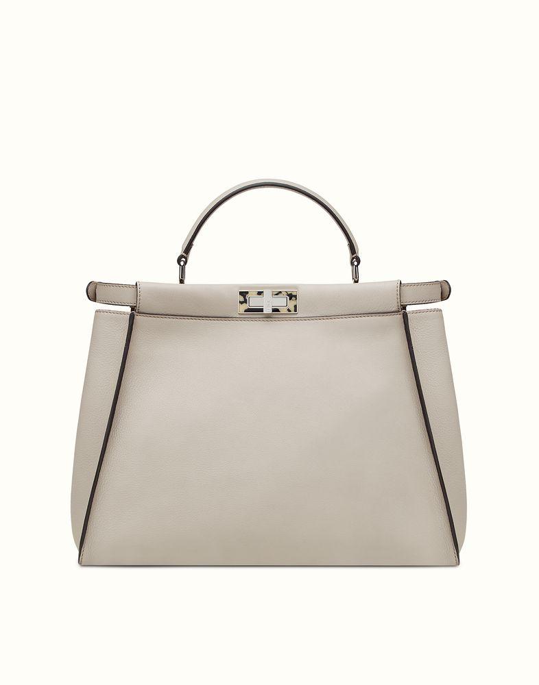 ... order fendi large peekaboo powder grey leather handbag dd48f e7e79 ... 43106c9016769