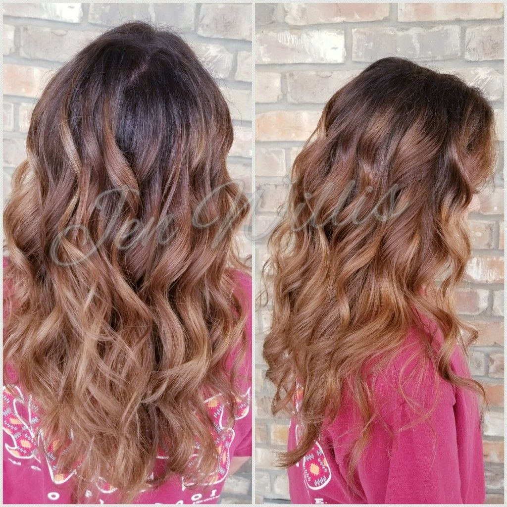 Balayage Brown Hair Ombre Salon Platinum Conway Arkansas Hair By