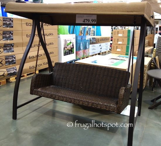 Agio International 3 Person Woven Patio Swing. #Costco #FrugalHotspot