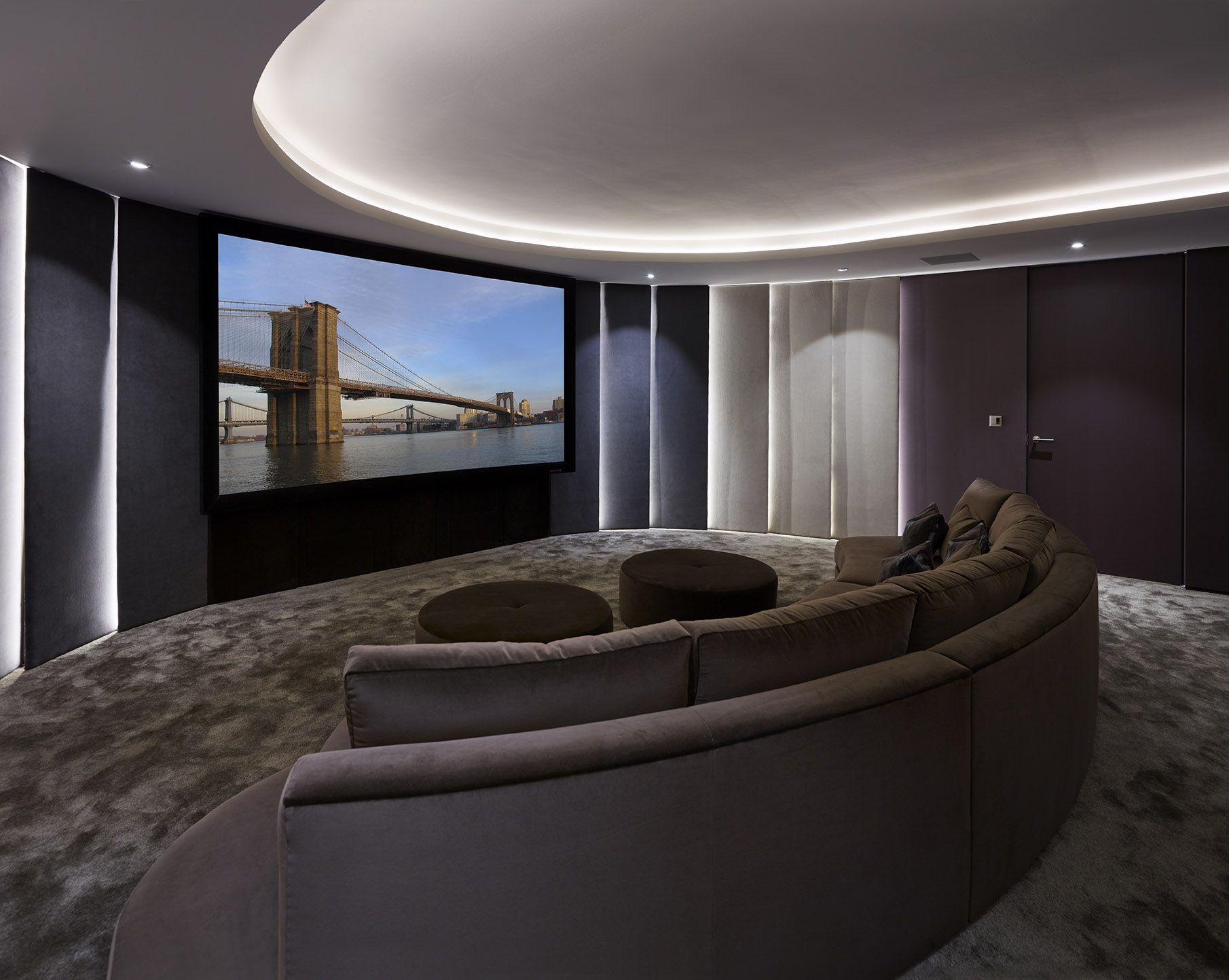 cinema room furniture. Private Cinema Room Located In The Kiln - Curved Sofa Reflects Room\u0027s Distinctive Shape While Furniture A