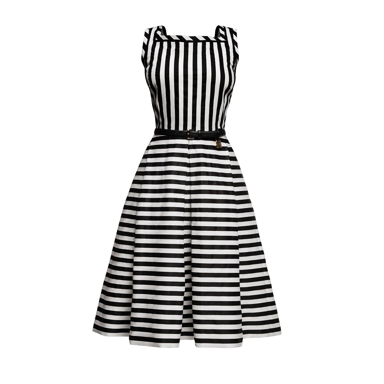 300bc5cd31 Riviera Striped Sleeveless Dress by Rumour London