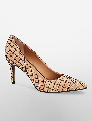 Image for gayle cork pump from Calvin Klein