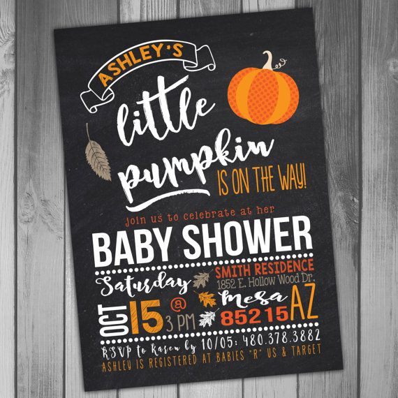 Pumpkin Baby Shower Invitation Fall Baby Shower Fall Invitation - Halloween baby shower invitations