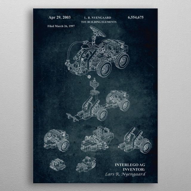 No209 - 1997 - Toy building by Xavier Vieira | metal posters - Displate | Displate thumbnail