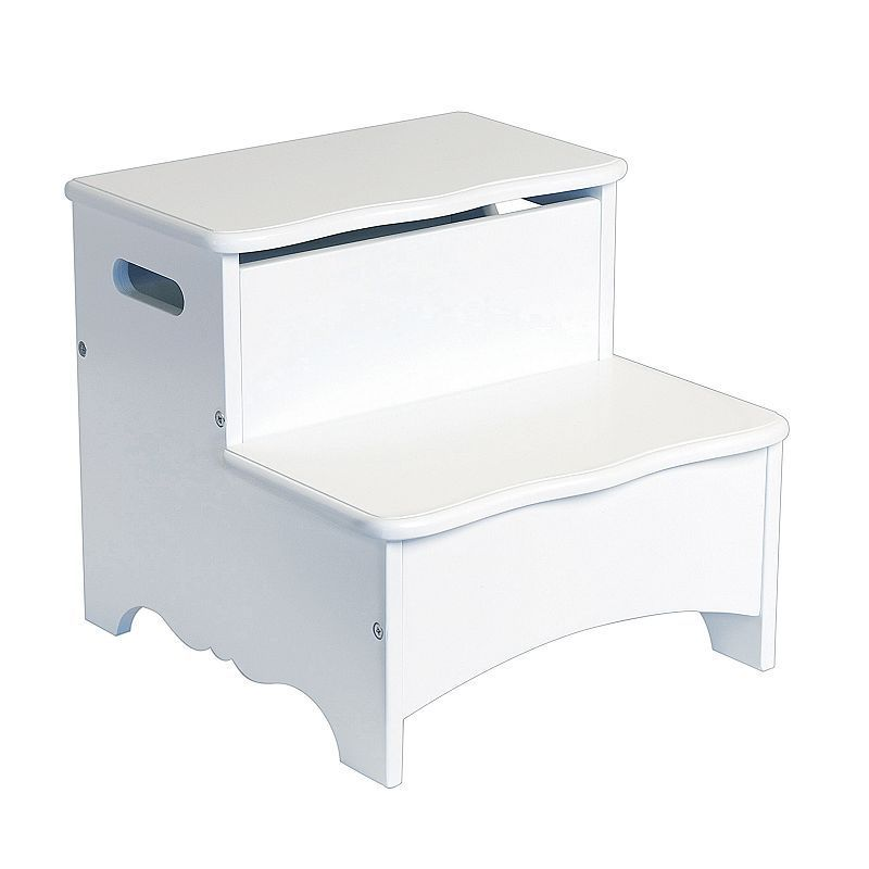 Sensational Guidecraft Classic White Storage Step Up Products Gamerscity Chair Design For Home Gamerscityorg