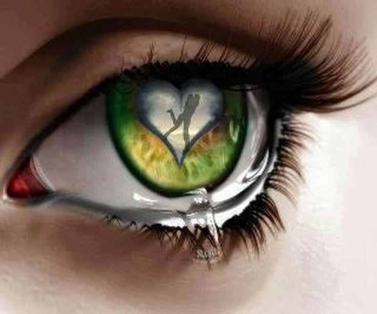 Картинки глаза со слезами зеленые