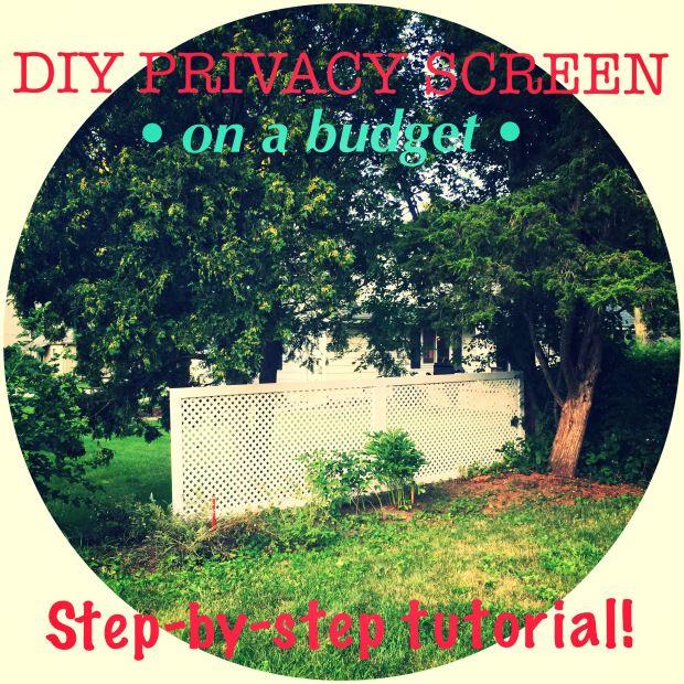 https://amberwegener.wordpress.com/   Easy to follow tutorial: how to build a privacy screen. #DIY #fixerupper #homeimprovement