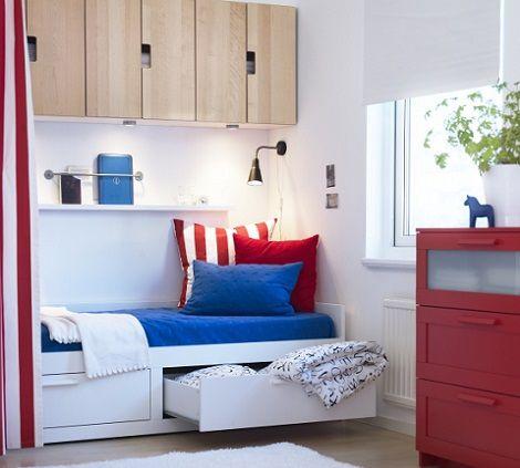 dormitorios-verano-ikea-brimnes.jpg (470×423) | Interior design ...