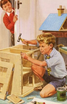 Building doll's house - Peter And Jane, We Like To Help.