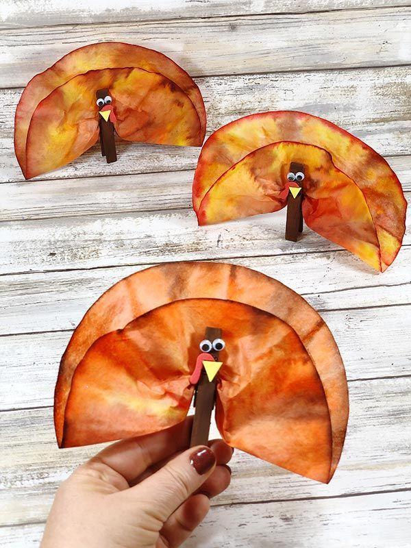 Coffee Filter Turkeys Thanksgiving Craft for Kids,  #Coffee #Craft #Filter #kids #Thanksgivin... #thanksgivingdecorations