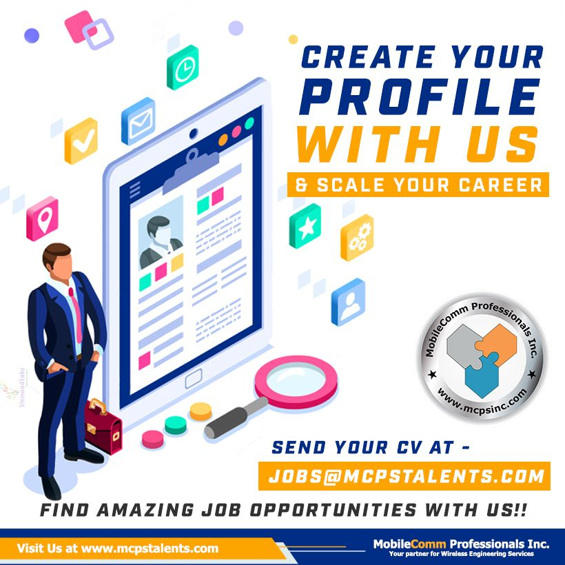 Create your profile with us & scale your career