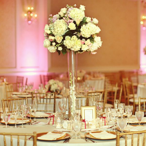 Gorgeous tall centerpieces color