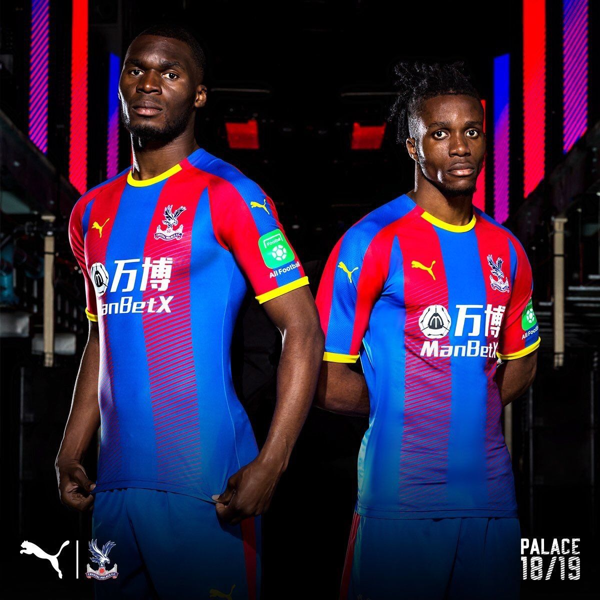 Crystal Palace 2018 2019 Home Kit.  5ca69f8e5