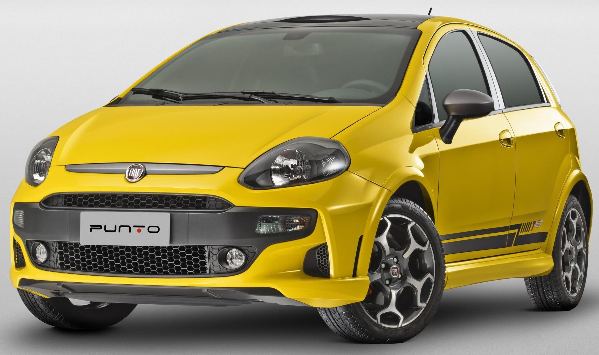 Fiat Punto Car Yellow Car Fiat