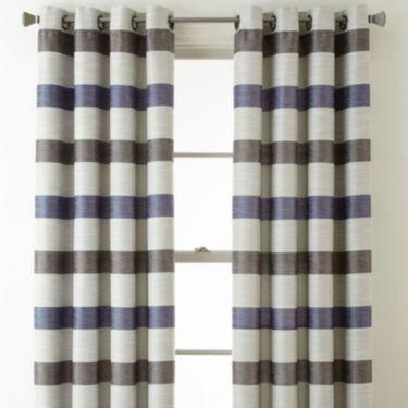 Studio Tempest Stripe Grommet Top Curtain Panel
