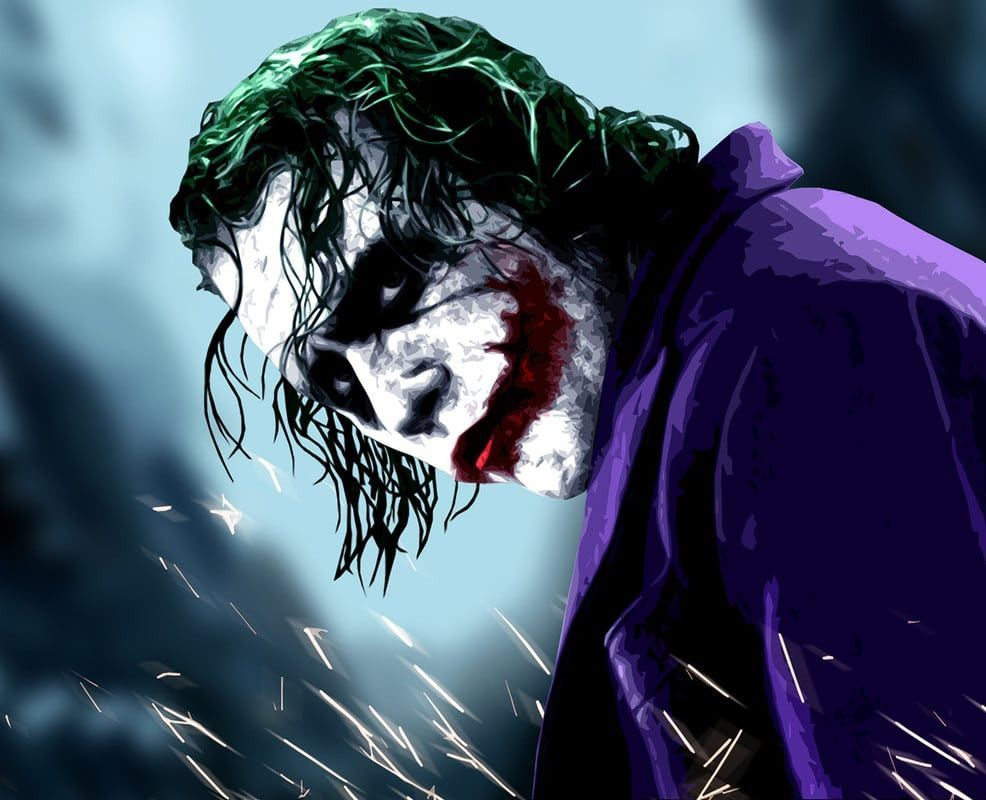 The Joker Heath Ledger (The Dark Knight) . Mouse Mat in