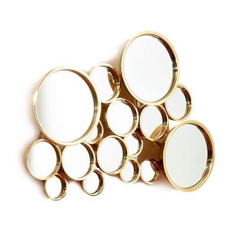 Moderner Spiegel Rund Aus Messing Gold Dome By Marco Sousa Bat