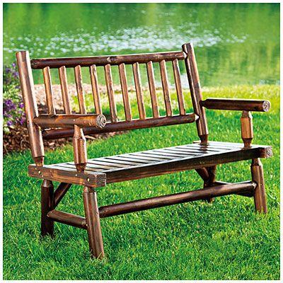 Wilson Fisher Log Garden Bench Affordable Outdoor Furniture