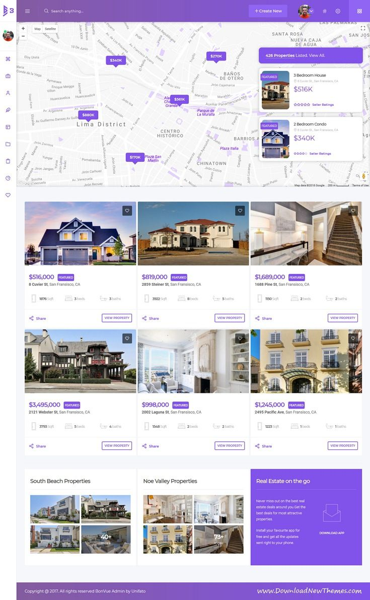 BonVue is clean and modern design responsive bootstrap