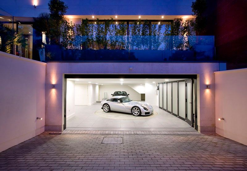 Garage Design Idea – Include A Car Turntable If You're Short On Space Or Have A Narrow Driveway