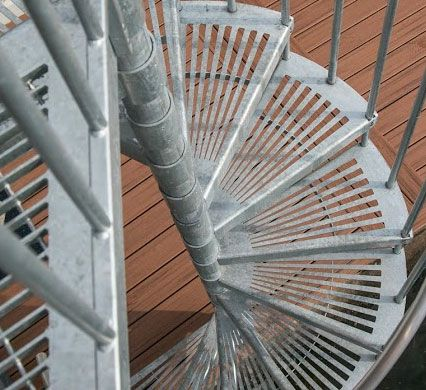 Best Galvanized Metal Spiral Staircases A Sturdy Metal Stair 640 x 480