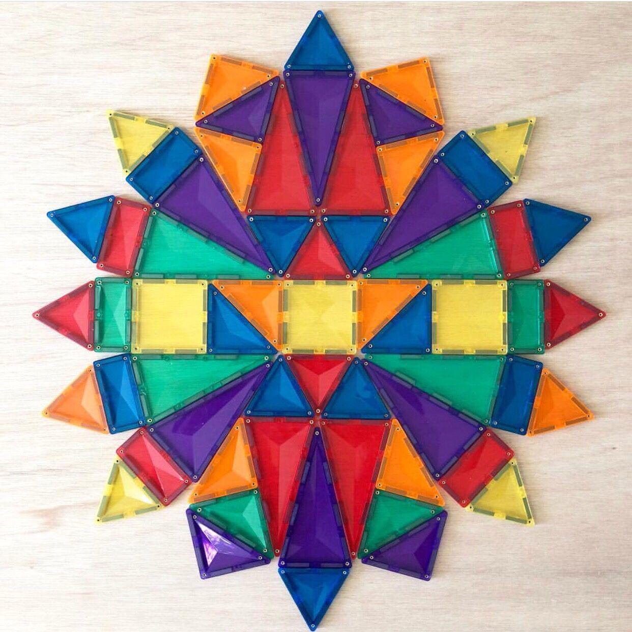 Connetix Magnetic Tile Mandala Patterns Magnetic Tiles Creative Activities For Kids Mandala Pattern