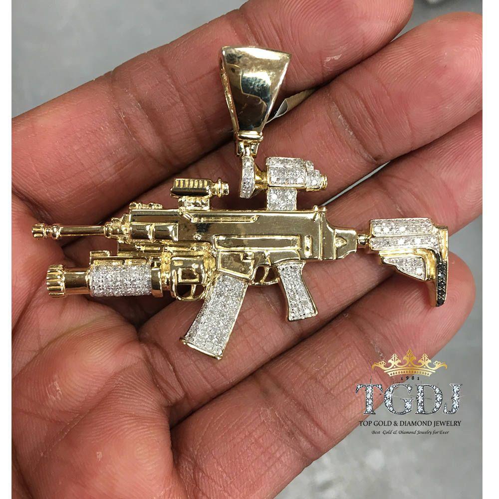 Gold gun pendant solid 14k gold gun pendant dimaond gun pendant gold gun pendant solid 14k gold gun pendant dimaond gun pendant gun necklace aloadofball Image collections