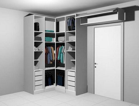 Guarda roupa planejado de canto | Closet rooms, Bedrooms and Spaces