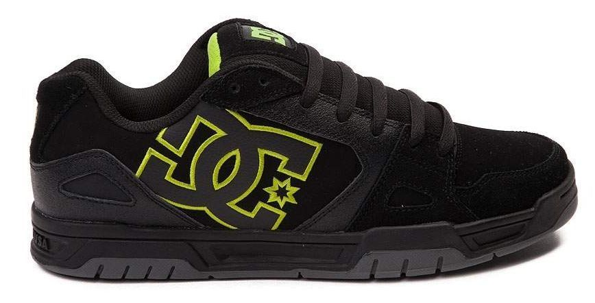 New DC SHOES Caliber Skate Shoe Mens all sizes black/lime #DCSHOES #Skateboarding