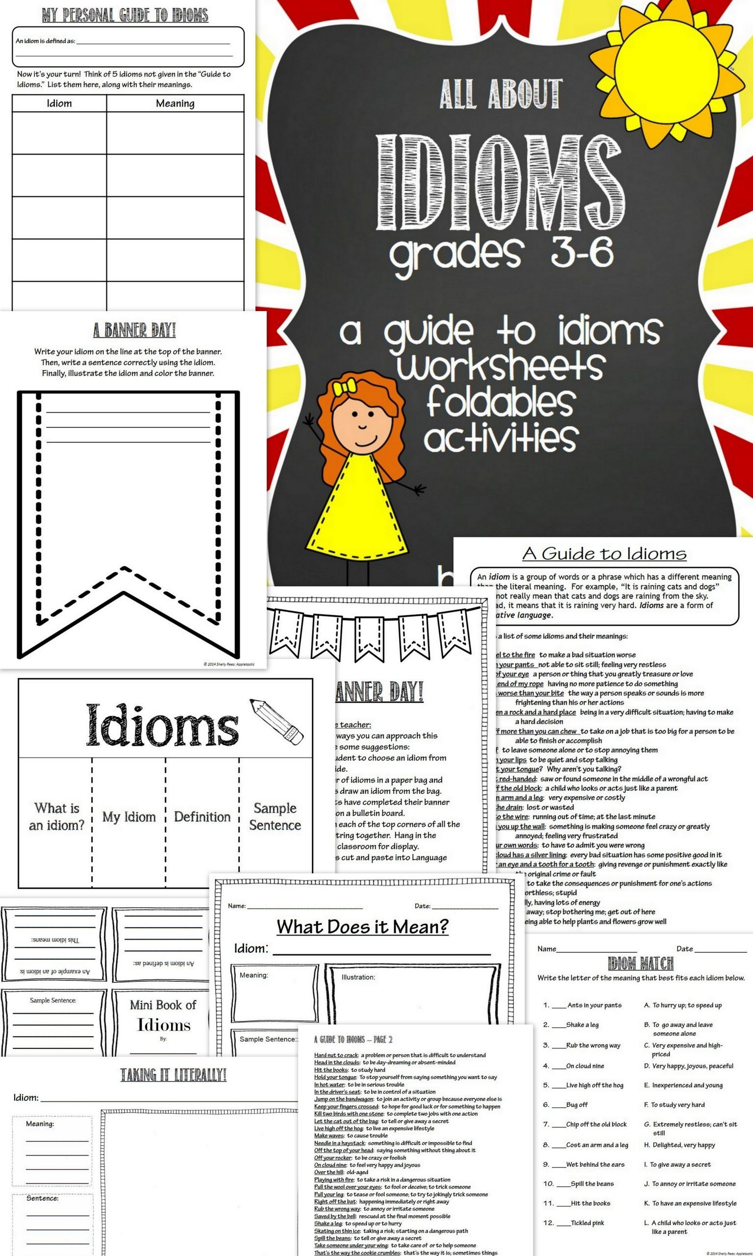 10 Readable Idiom Worksheets 4th Grade Di Dengan Gambar