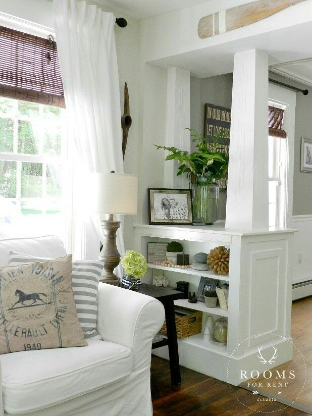 Maybe Replace The Spindle Half Wall Instead Of Opening It Up Completely...  Built In Shelves Living RoomLiving ...