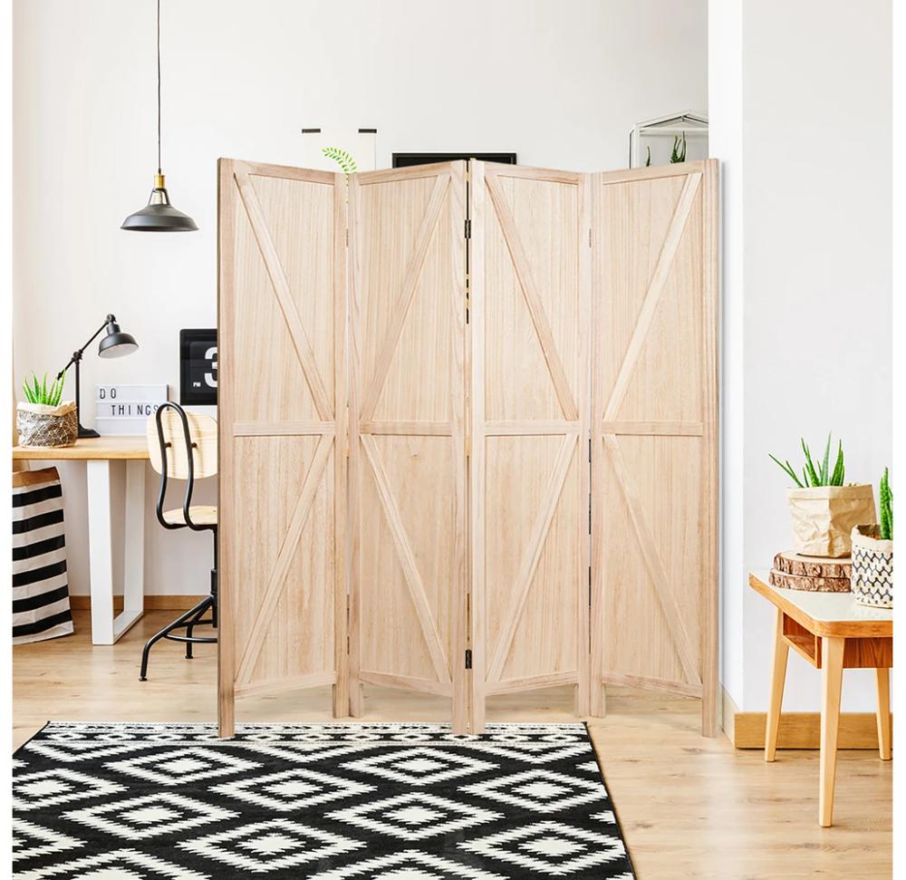 Daily Deal Room Dividers Folding Wooden 5.6' 4-Panel Room Divider – UntilGone.com