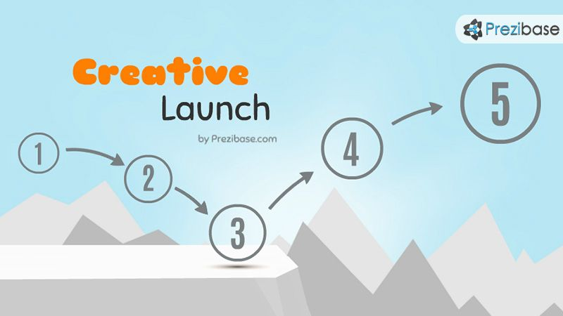 Creative Start Launch Solve Problem Over Cliff Prezi Template For