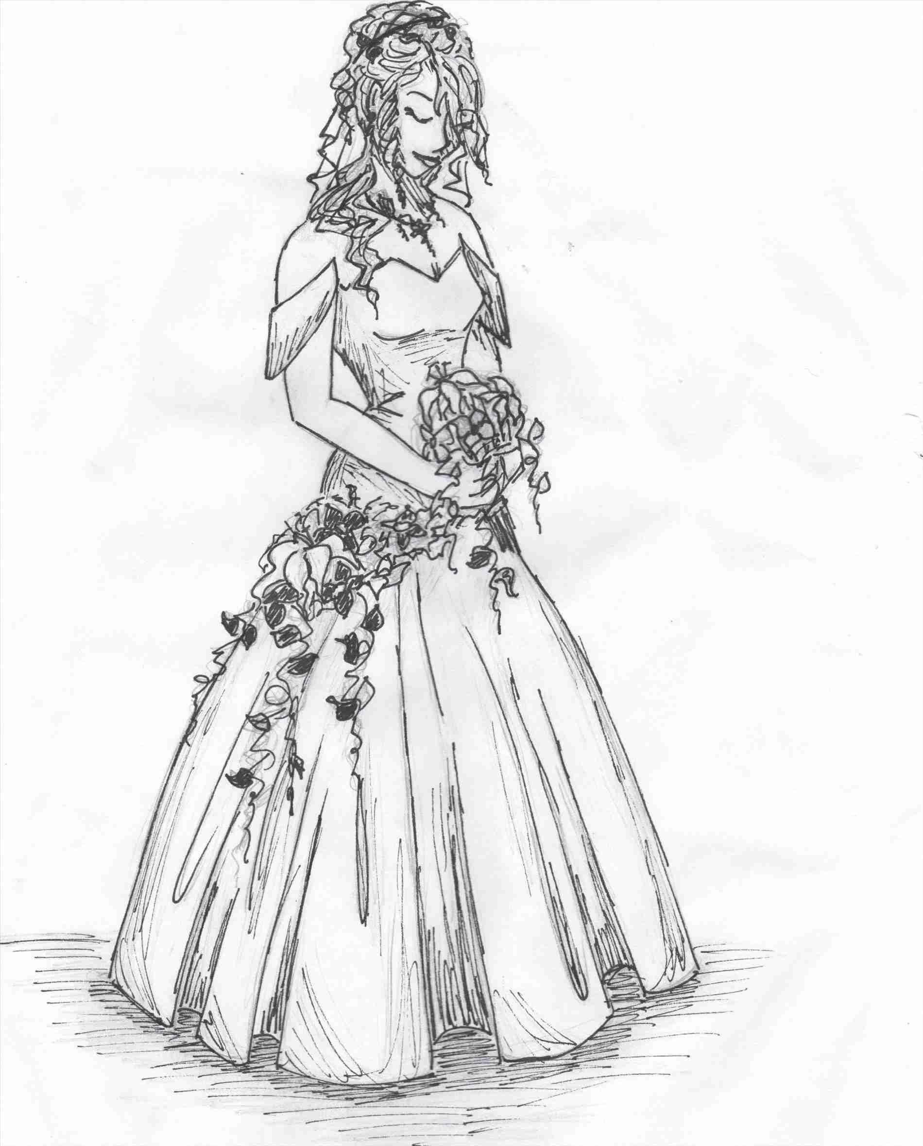 Simple Wedding Dress Sketch