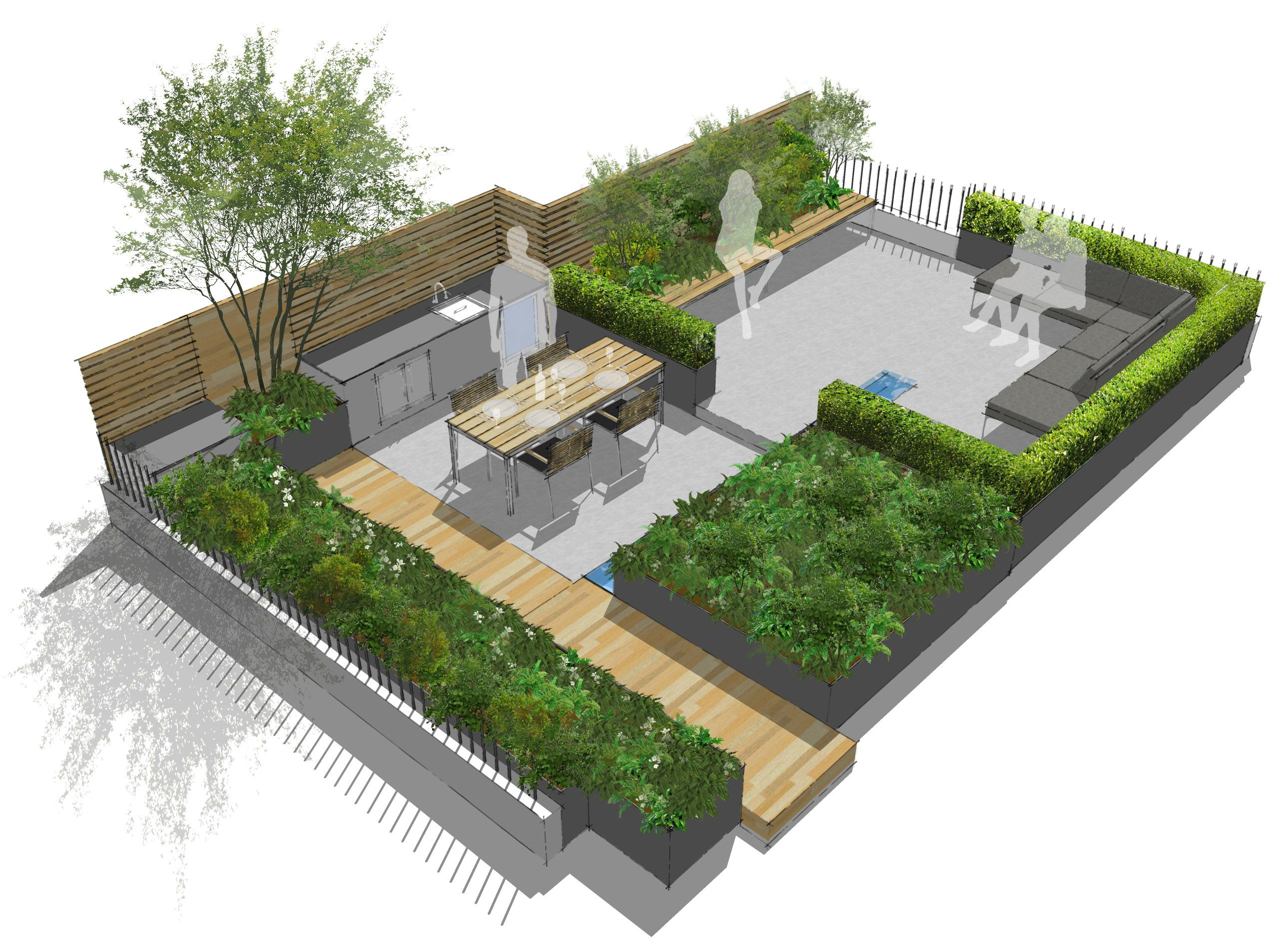 Creffield House London Contemporary London Roof Terrace Https Www Aralia Org Uk Portfolio Roof Garden Design Rooftop Terrace Design Terrace Garden Design